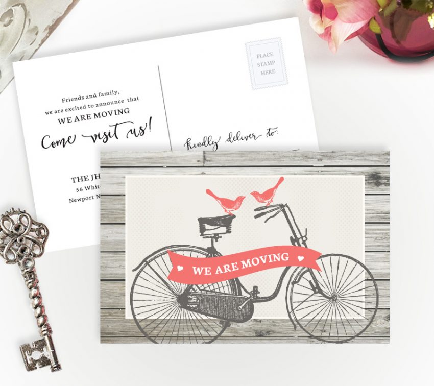 inexpensive we've moved cards personalized with your details