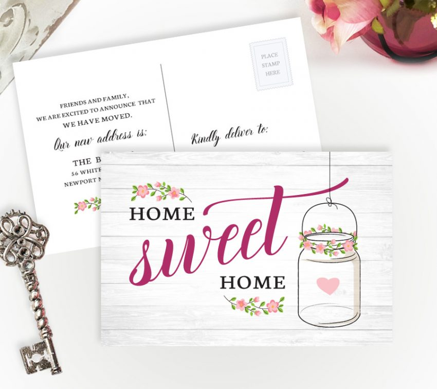 inexpensive change of address postcards personalized