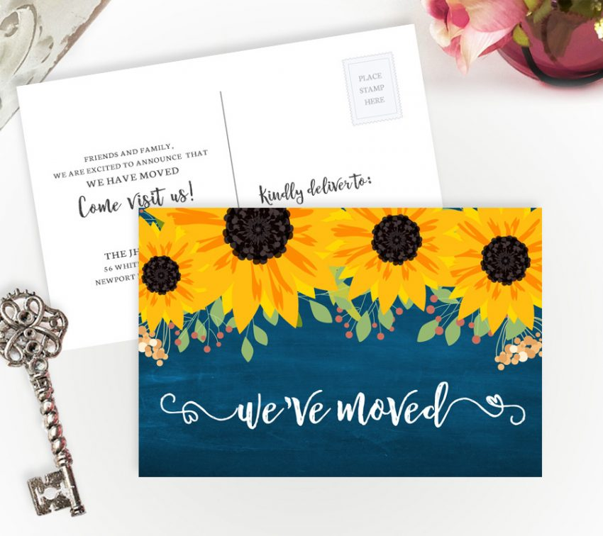Personalized change of address cards