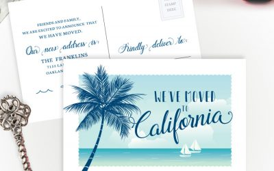 Moving to California Postcards