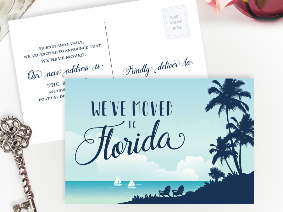 Florida New Address Cards