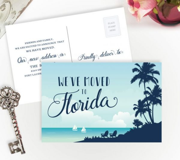 We've Moved To Florida Cards