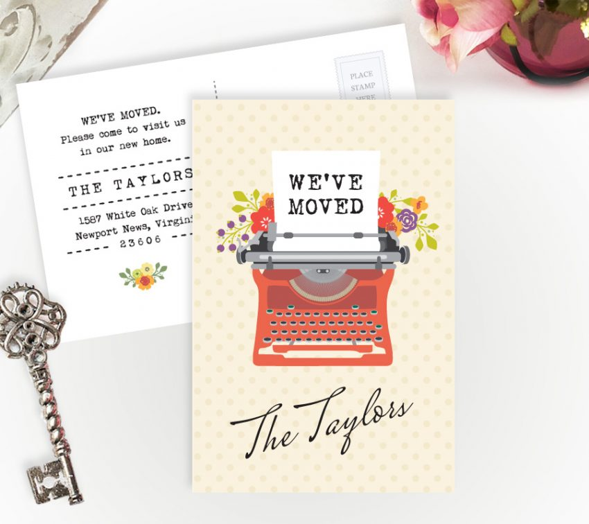 Typewriter we've moved cards