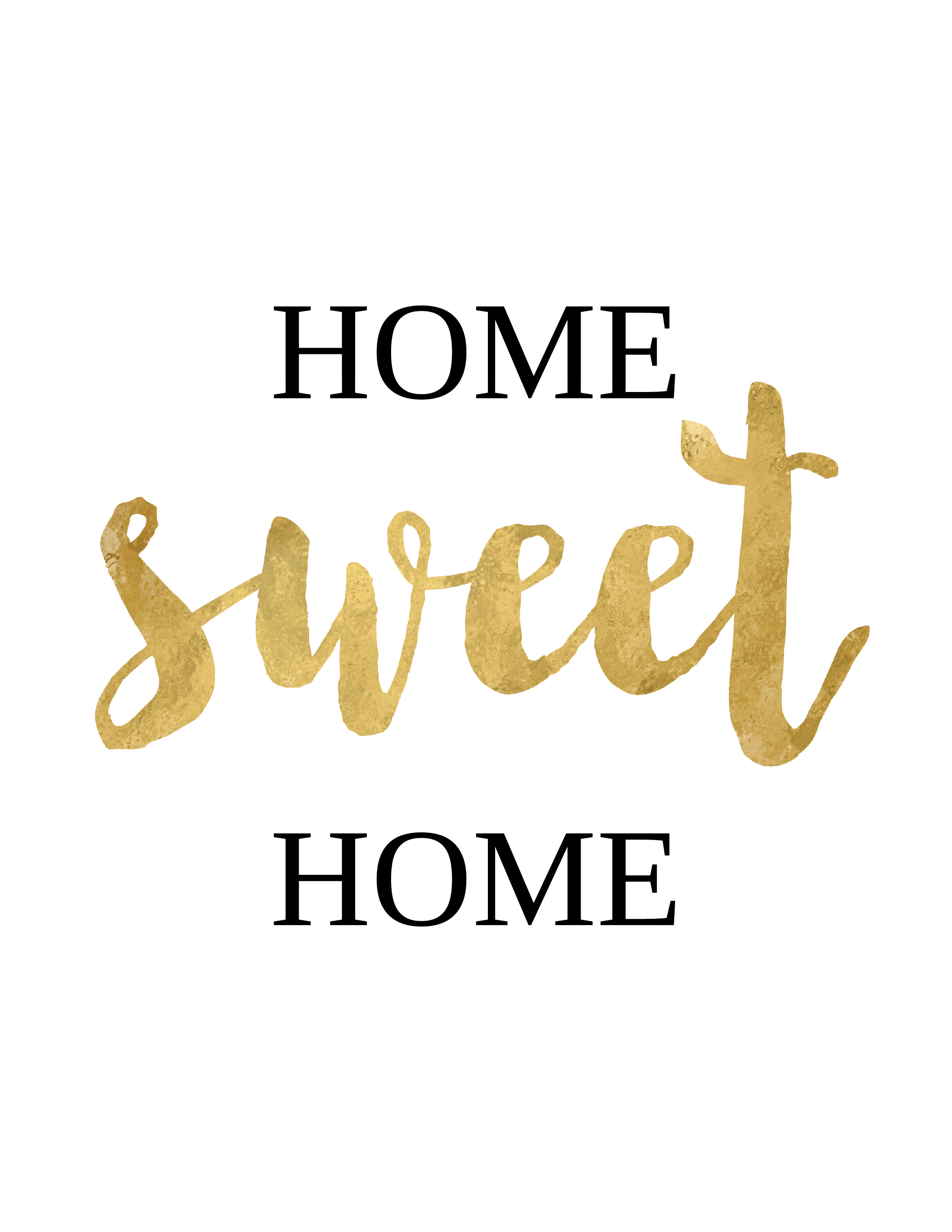 "Free printable ""Home sweet home"" wall art"