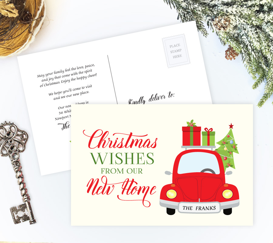 christmas new address cards