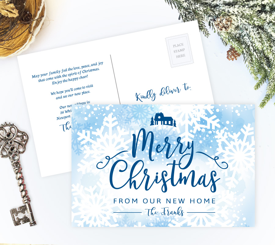 New address Christmas cards | New home holiday cards
