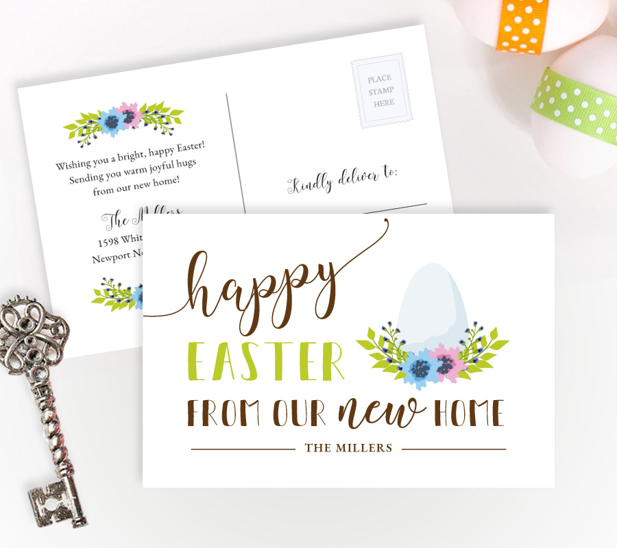 Easter Change of Address Cards