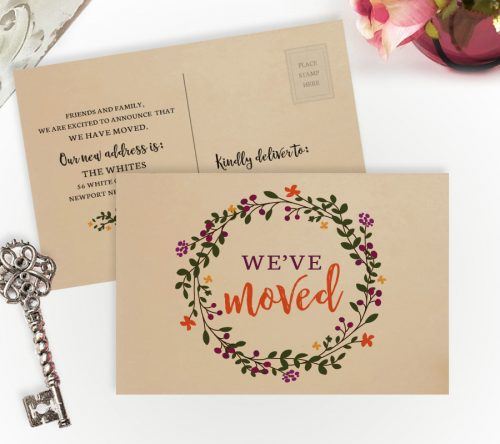we have moved cards personalized