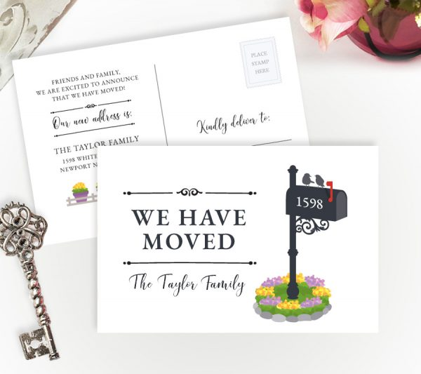 moving announcement postcards