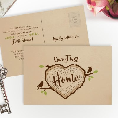 Personalized new home announcements