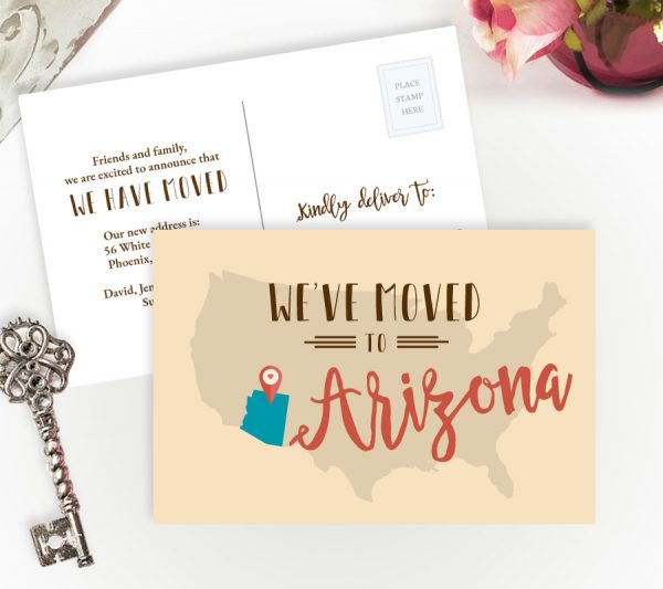 we have moved to Arizona cards