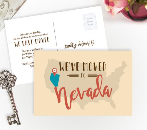 We've Moved to Nevada Cards
