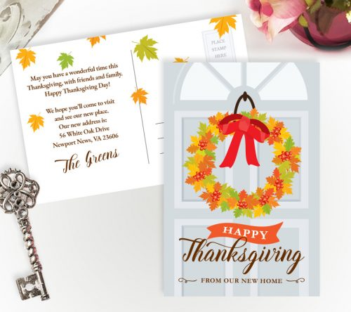 thanksgiving change of address cards