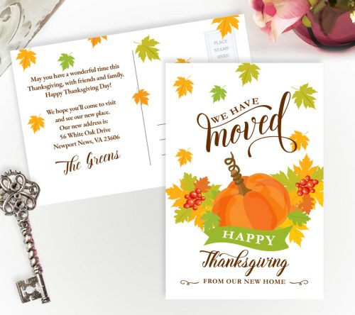 Thanksgiving moving cards