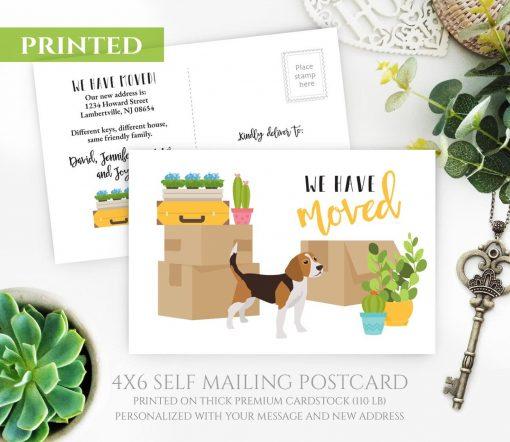 Beagle Moving Postcards