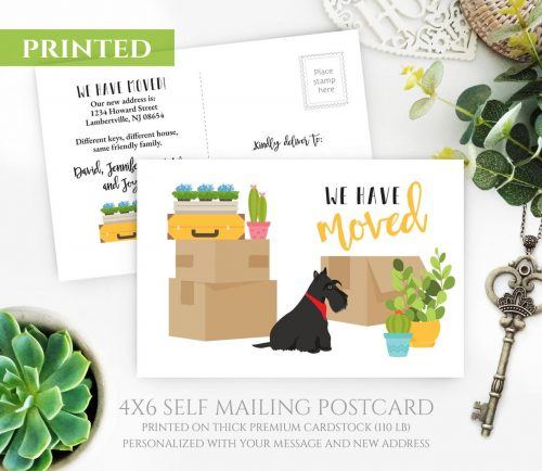 Scottish Terrier Moving Cards