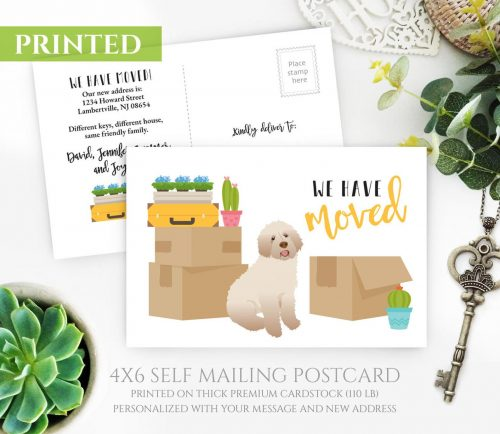 Labradoodle Moving Cards