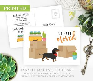 Dachshund Moving Cards